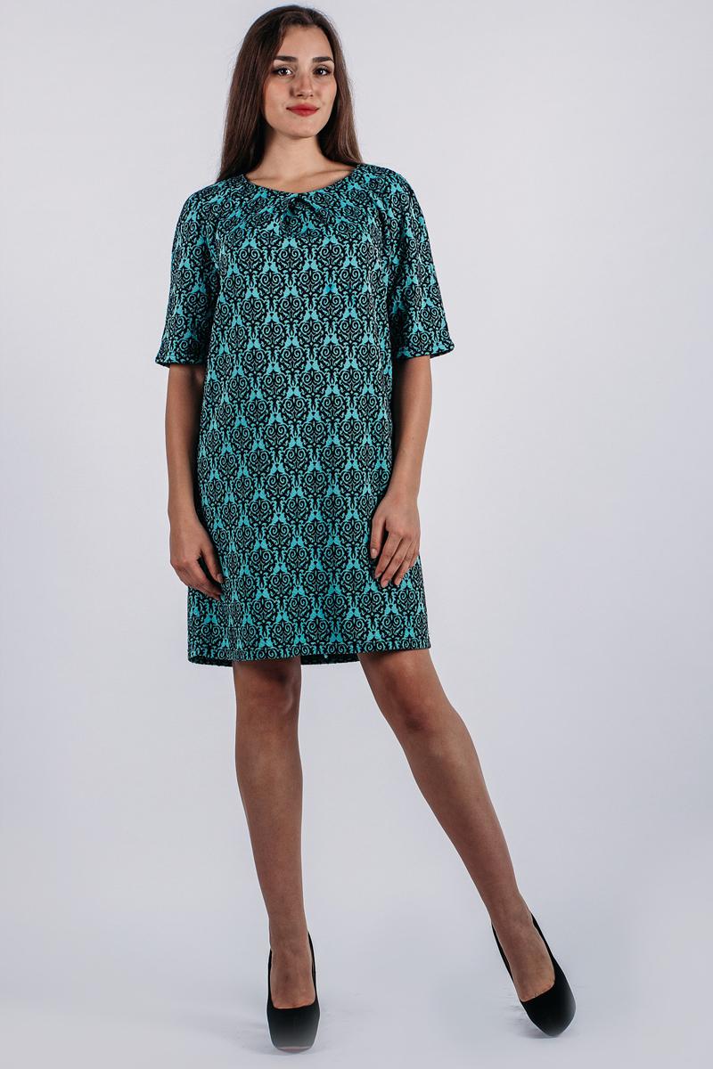 741Потрясающее трикотажное платье Lautus, выполненное из высококачественного плотного материала, оформлено актуальным принтом. Модель-миди, с рукавами-реглан и круглым вырезом горловины, на спинке застегивается на потайную молнию. Модель прямого кроя с рукавами 1/2. В таком наряде вы, безусловно, привлечете восхищенные взгляды окружающих.