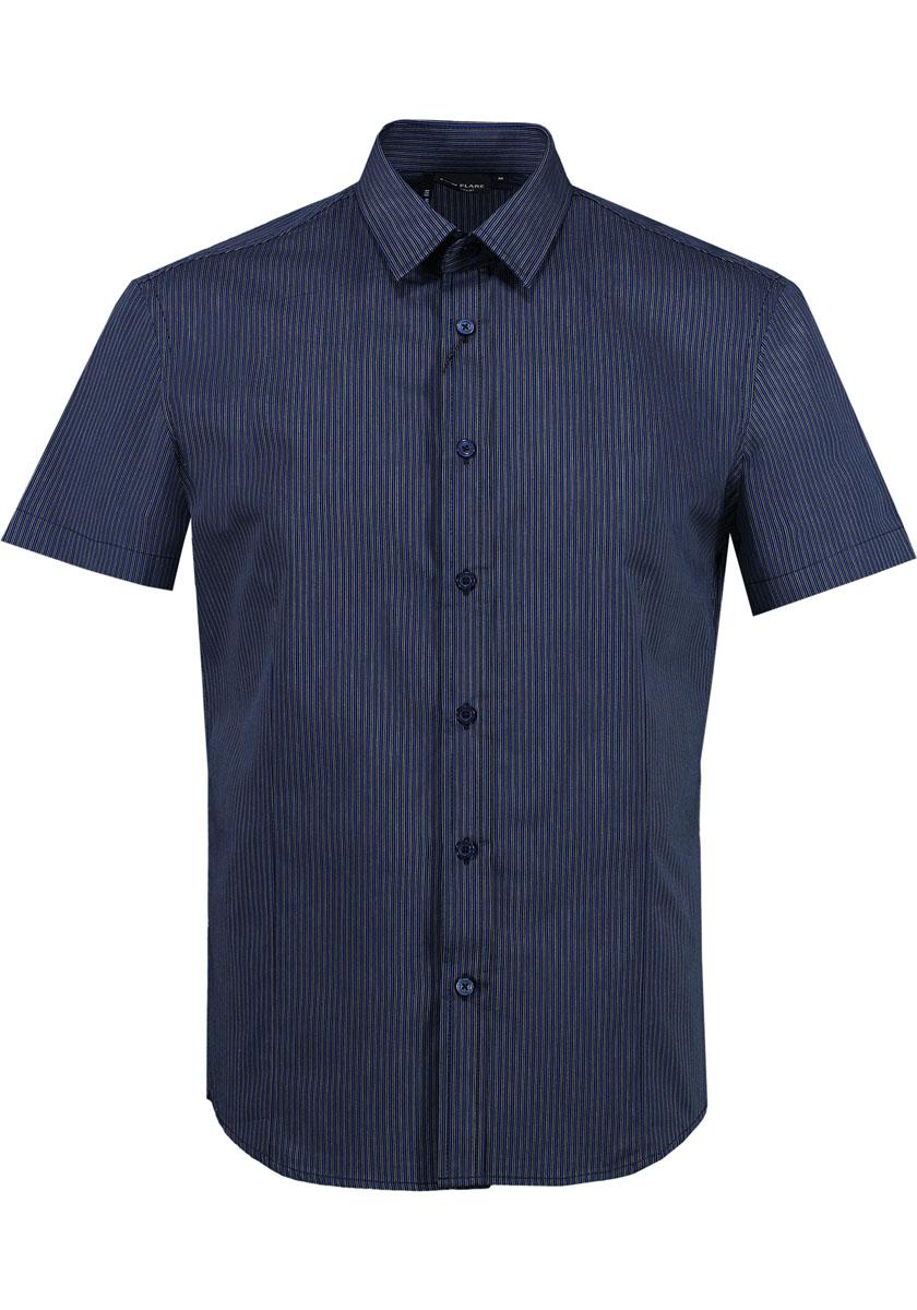 Рубашка мужская. S15-21006S15-21006 101Стильная мужская рубашка Finn Flare, изготовленная из высококачественного материала, необычайно мягкая и приятная на ощупь, не сковывает движения и позволяет коже дышать, обеспечивая наибольший комфорт. Модная рубашка прямого кроя с короткими рукавами, отложным воротником и полукруглым низом застегивается на пуговицы. Эта рубашка идеальный вариант для повседневного гардероба. Такая модель порадует настоящих ценителей комфорта и практичности!