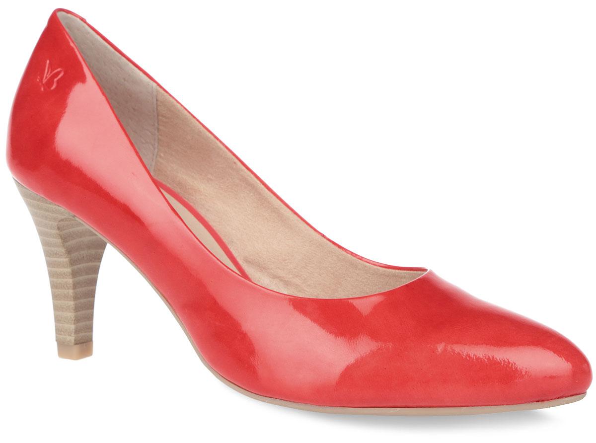 Туфли женские. 9-9-22409-26-5459-9-22409-26-545Стильные туфли от Caprice не оставят равнодушной настоящую модницу! Модель выполнена из натуральной лакированной кожи. Заостренный носок смотрится невероятно женственно. Внутренняя поверхность из натуральной кожи и текстиля. Стелька из натуральной кожи гарантирует комфорт при ходьбе. Каблук умеренной высоты, стилизованный под дерево, устойчив. Каблук и подошва с рифлением обеспечивают идеальное сцепление с любыми поверхностями. Элегантные туфли внесут изысканные нотки в ваш образ и подчеркнут вашу утонченную натуру.