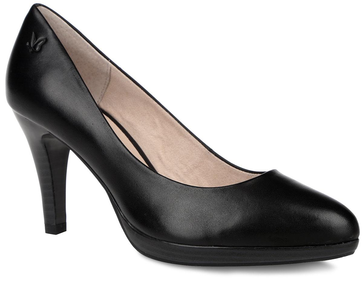 Туфли женские. 9-9-22410-26-0229-9-22410-26-022Стильные туфли от Caprice не оставят равнодушной настоящую модницу! Модель выполнена из натуральной кожи. Заостренный носок смотрится невероятно женственно. Внутренняя поверхность из натуральной кожи и текстиля. Стелька из натуральной кожи гарантирует комфорт при ходьбе. Высокий каблук компенсирован платформой. Каблук и подошва с рифлением обеспечивают идеальное сцепление с любыми поверхностями. Элегантные туфли внесут изысканные нотки в ваш образ и подчеркнут вашу утонченную натуру.