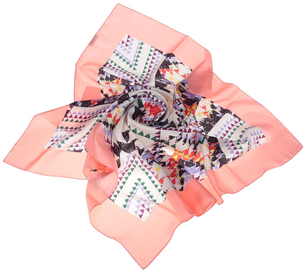 ПлатокCX1516-60-11Стильный женский платок Fabretti станет великолепным завершением любого наряда. Платок изготовлен из высококачественного шелка и оформлен изысканным геометрическим орнаментом. Классическая квадратная форма позволяет носить платок на шее, украшать им прическу или декорировать сумочку. Мягкий и шелковистый платок поможет вам создать изысканный женственный образ, а также согреет в непогоду. Такой платок превосходно дополнит любой наряд и подчеркнет ваш неповторимый вкус и элегантность.