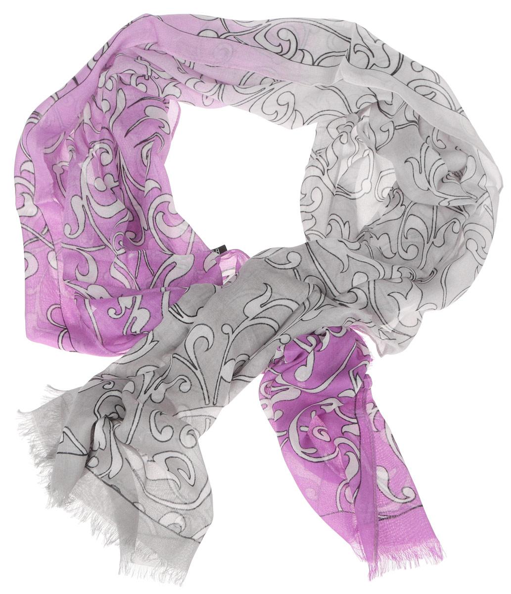 Шарф женский. DS2015-002DS2015-002-15Женский шарф Fabretti позволит вам создать неповторимый и запоминающийся образ. Изготовленный из высококачественных материалов, он очень легкий, мягкий, имеет приятную на ощупь текстуру. Модель оформлена изысканным узором, украшена по краям короткими кисточками. Такой аксессуар станет стильным дополнением к гардеробу современной женщины, стремящейся всегда оставаться яркой и элегантной.