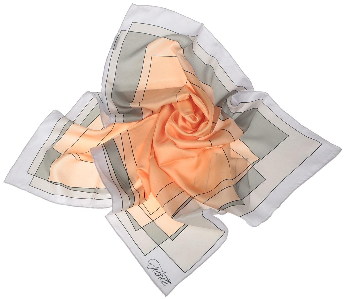 CX1516-47-4Стильный женский платок Fabretti станет великолепным завершением любого наряда. Платок изготовлен из высококачественного шелка и оформлен принтом с изображением оригинального цветового градиента. Классическая квадратная форма позволяет носить платок на шее, украшать им прическу или декорировать сумочку. Мягкий и шелковистый платок поможет вам создать изысканный женственный образ, а также согреет в непогоду. Такой платок превосходно дополнит любой наряд и подчеркнет ваш неповторимый вкус и элегантность.