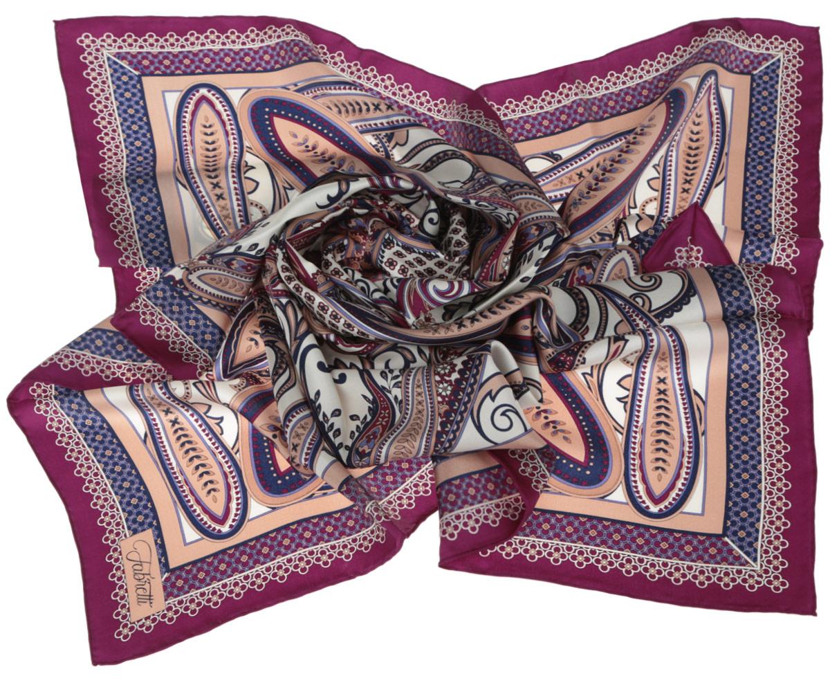 Платок женский. CX1516-52CX1516-52-5Стильный женский платок Fabretti станет великолепным завершением любого наряда. Платок изготовлен из высококачественного 100% шелка и оформлен изысканным этническим принтом в индийском стиле. Классическая квадратная форма позволяет носить платок на шее, украшать им прическу или декорировать сумочку. Мягкий и шелковистый платок поможет вам создать изысканный женственный образ, а также согреет в непогоду. Такой платок превосходно дополнит любой наряд и подчеркнет ваш неповторимый вкус и элегантность.