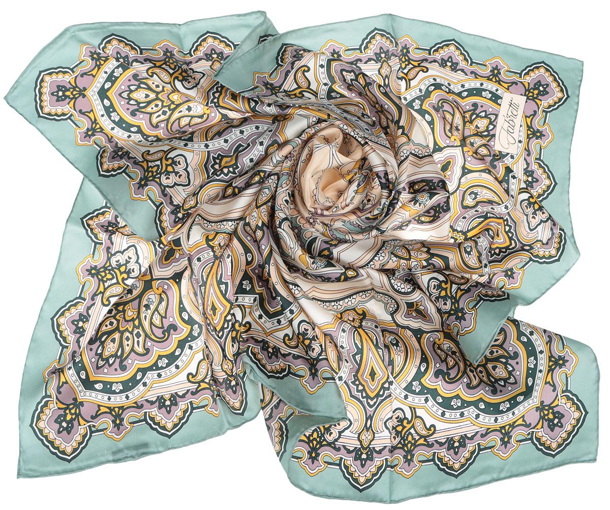 CX1516-46-3Стильный женский платок Fabretti станет великолепным завершением любого наряда. Платок изготовлен из высококачественного 100% шелка и оформлен оригинальным принтом с цветочным орнаментом в восточном стиле. Классическая квадратная форма позволяет носить платок на шее, украшать им прическу или декорировать сумочку. Мягкий и шелковистый платок поможет вам создать изысканный женственный образ, а также согреет в непогоду. Такой платок превосходно дополнит любой наряд и подчеркнет ваш неповторимый вкус и элегантность.