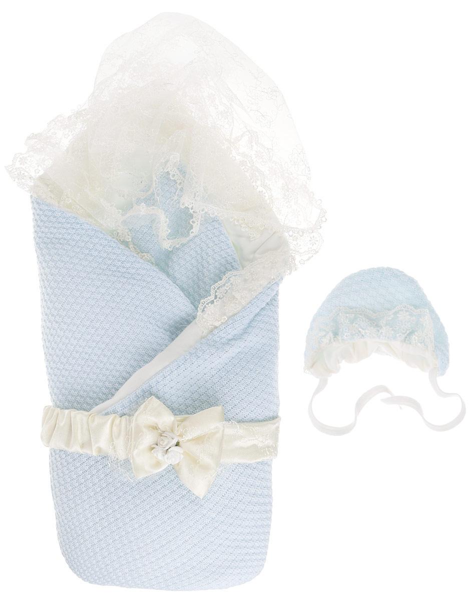 Конверт для новорожденного1709МКонверт-одеяло Сонный гномик Жемчужинка прекрасно подойдет для выписки новорожденного из роддома. В дальнейшем его можно использовать во время прогулок с малышом в коляске-люльке или в качестве удобного коврика для пеленания. Конверт изготовлен из 100% акрила на подкладке из шерсти с добавлением полиэстера. В качестве утеплителя используется шелтер (100% полиэстер). Шелтер (Shelter) - утеплитель нового поколения с тонкими волокнами. Его более мягкие ячейки лучше удерживают воздух, эффективнее сохраняя тепло. Более частые связи между волокнами делают утеплитель прочным и позволяют сохранить его свойства даже после многократных стирок. Утеплитель шелтер максимально защищает от холода и не стесняет движений. Конверт-одеяло складывается и фиксируется на липучку. Верхняя часть конверта украшена вуалью с ажурной вышивкой, пристегивающейся с помощью липучек. Также в комплект входит очаровательный акриловый чепчик на хлопковой подкладке, украшенный оборкой из вуали и атласный...