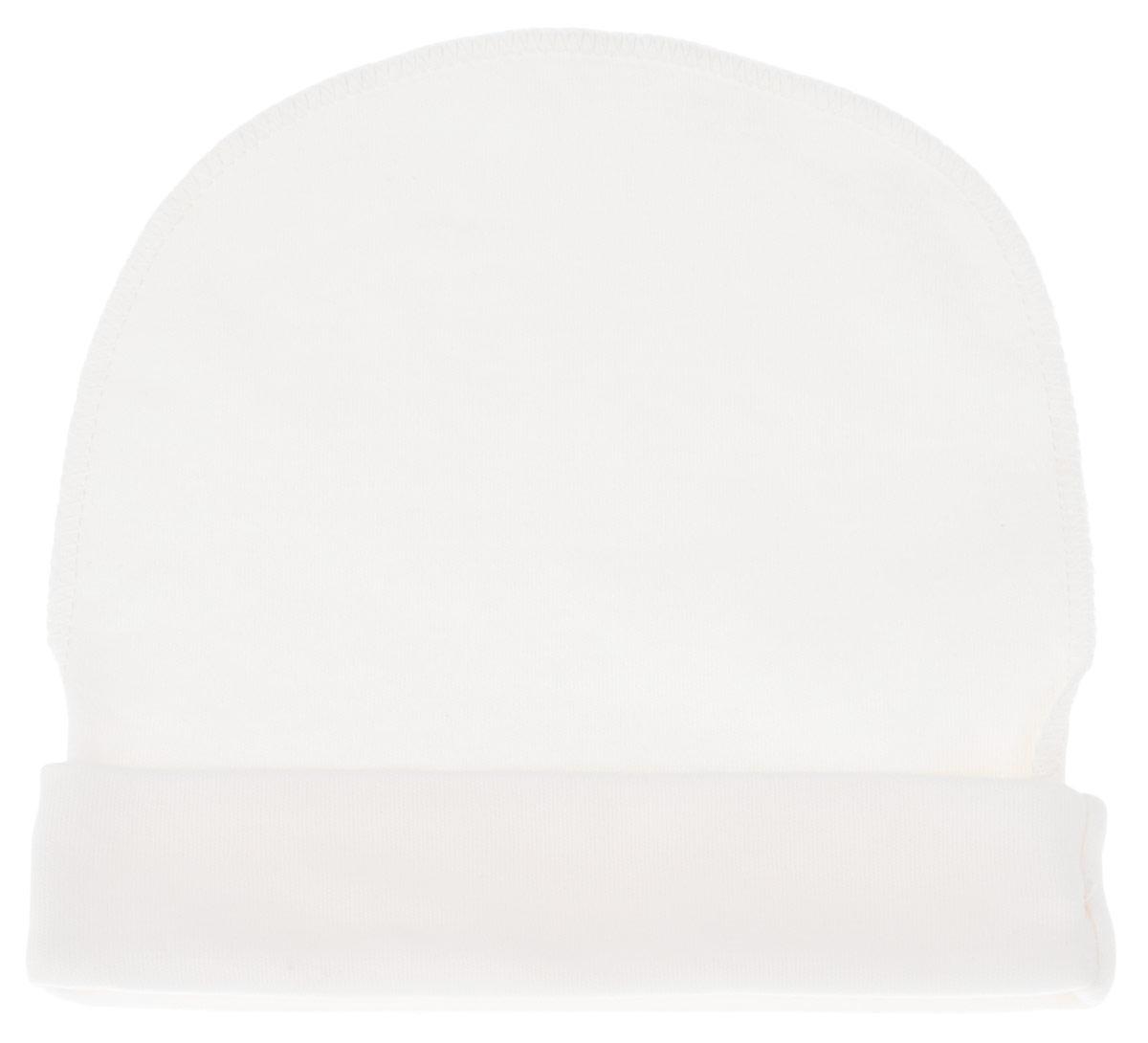 Шапочка. 38843884Комфортная шапочка КотМарКот защитит еще не заросший родничок вашего ребенка от ветра и от палящего солнца. Шапочка изготовлена из натурального хлопка - интерлока, благодаря чему она необычайно мягкая и легкая, не раздражает нежную кожу ребенка и хорошо вентилируется, а эластичные швы, выполненные наружу, приятны телу младенца и не препятствуют его движениям. Шапочка дополнена декоративным отворотом. В такой шапочке ваш ребенок будет чувствовать себя уютно и комфортно!