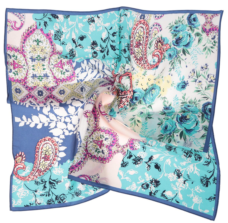 Платок женский. CX1516-65CX1516-65-9Стильный женский платок Fabretti станет великолепным завершением любого наряда. Платок изготовлен из высококачественного шелка и оформлен изысканным цветочным орнаментом. Классическая квадратная форма позволяет носить платок на шее, украшать им прическу или декорировать сумочку. Мягкий и шелковистый платок поможет вам создать изысканный женственный образ, а также согреет в непогоду. Такой платок превосходно дополнит любой наряд и подчеркнет ваш неповторимый вкус и элегантность.