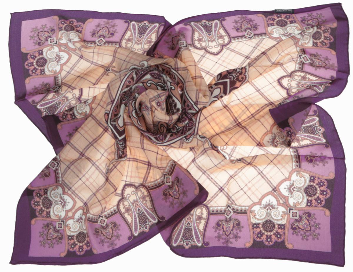 CX1516-50-10Стильный женский платок Leo Ventoni станет великолепным завершением любого наряда. Платок изготовлен из высококачественного шелка и оформлен принтом в клетку, дополненным оригинальным орнаментом. Классическая квадратная форма позволяет носить платок на шее, украшать им прическу или декорировать сумочку. Мягкий и шелковистый платок поможет вам создать изысканный женственный образ, а также согреет в непогоду. Такой платок превосходно дополнит любой наряд и подчеркнет ваш неповторимый вкус и элегантность.