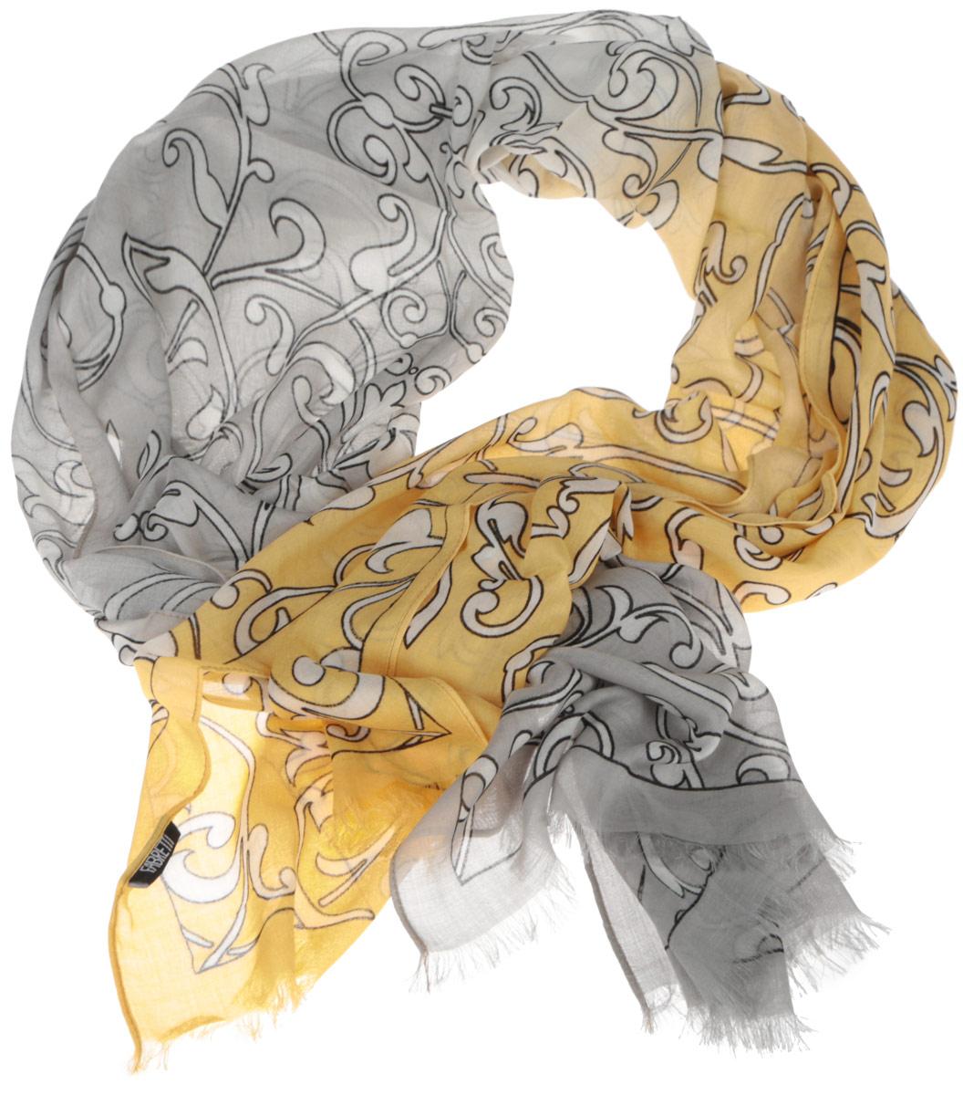 DS2015-002-15Женский шарф Fabretti позволит вам создать неповторимый и запоминающийся образ. Изготовленный из высококачественных материалов, он очень легкий, мягкий, имеет приятную на ощупь текстуру. Модель оформлена изысканным узором, украшена по краям короткими кисточками. Такой аксессуар станет стильным дополнением к гардеробу современной женщины, стремящейся всегда оставаться яркой и элегантной.