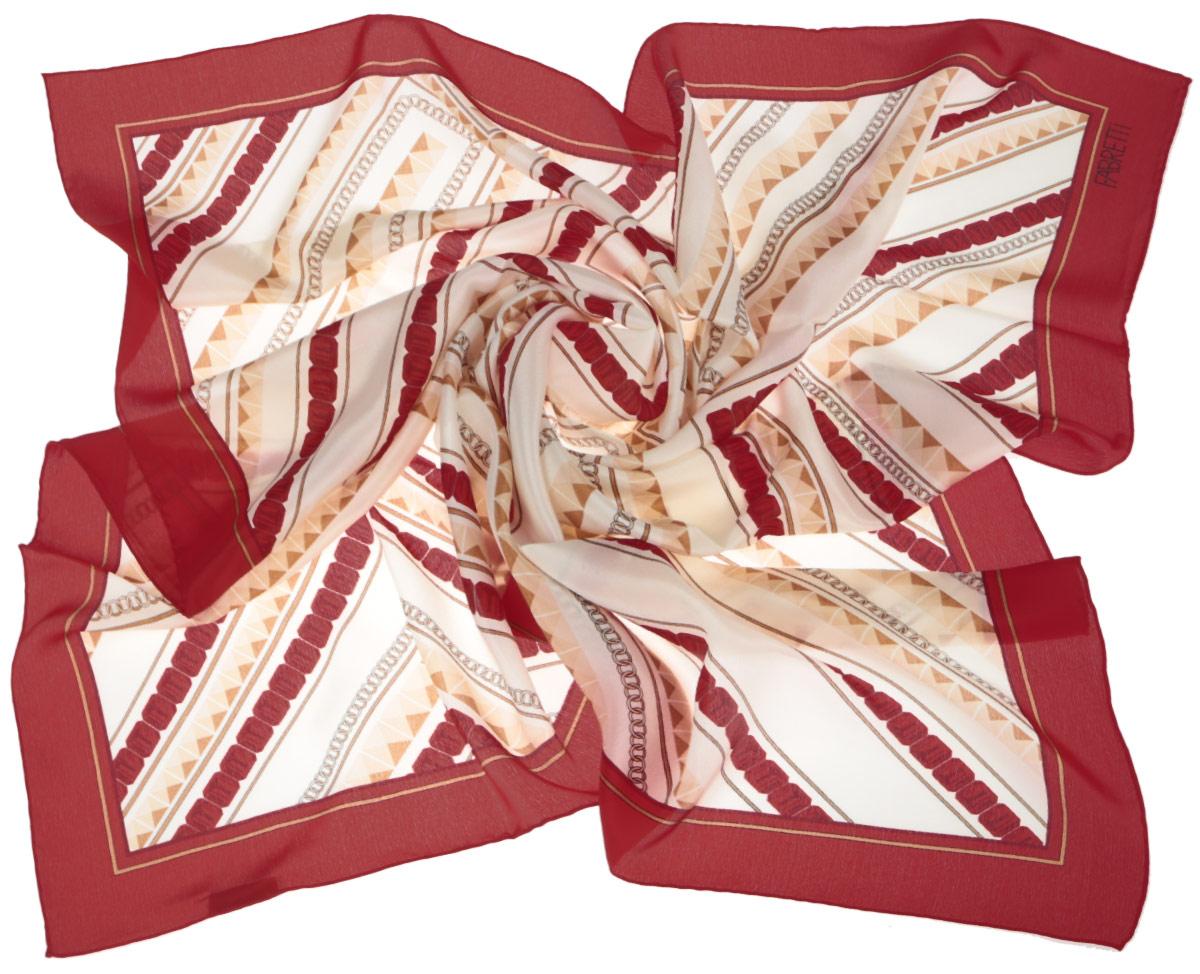 ПлатокCX1516-51-1Стильный женский платок Fabretti станет великолепным завершением любого наряда. Платок изготовлен из высококачественного 100% шелка и оформлен оригинальным геометрическим принтом. Классическая квадратная форма позволяет носить платок на шее, украшать им прическу или декорировать сумочку. Мягкий и шелковистый платок поможет вам создать изысканный женственный образ, а также согреет в непогоду. Такой платок превосходно дополнит любой наряд и подчеркнет ваш неповторимый вкус и элегантность.