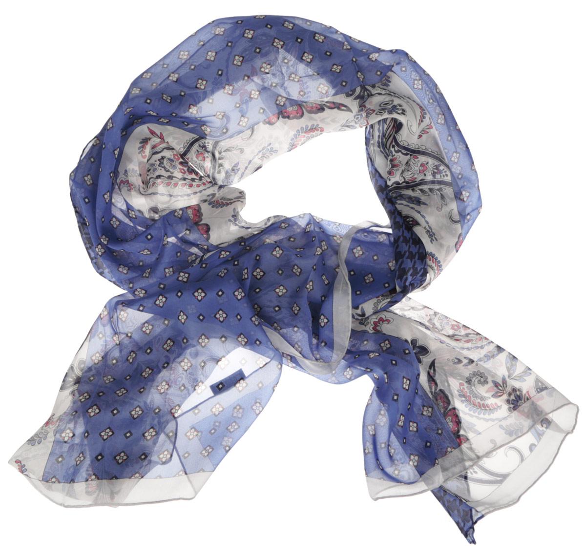 ШарфCX1516-57-4Стильный женский шарф Fabretti станет великолепным завершением любого наряда. Шарф изготовлен из шелка и оформлен изысканным орнаментом. Края шарфа обработаны ручным швом. Мягкий и шелковистый шарф поможет вам создать изысканный женственный образ, а также согреет в непогоду. Такой шарф превосходно дополнит любой наряд и подчеркнет ваш неповторимый вкус и элегантность.