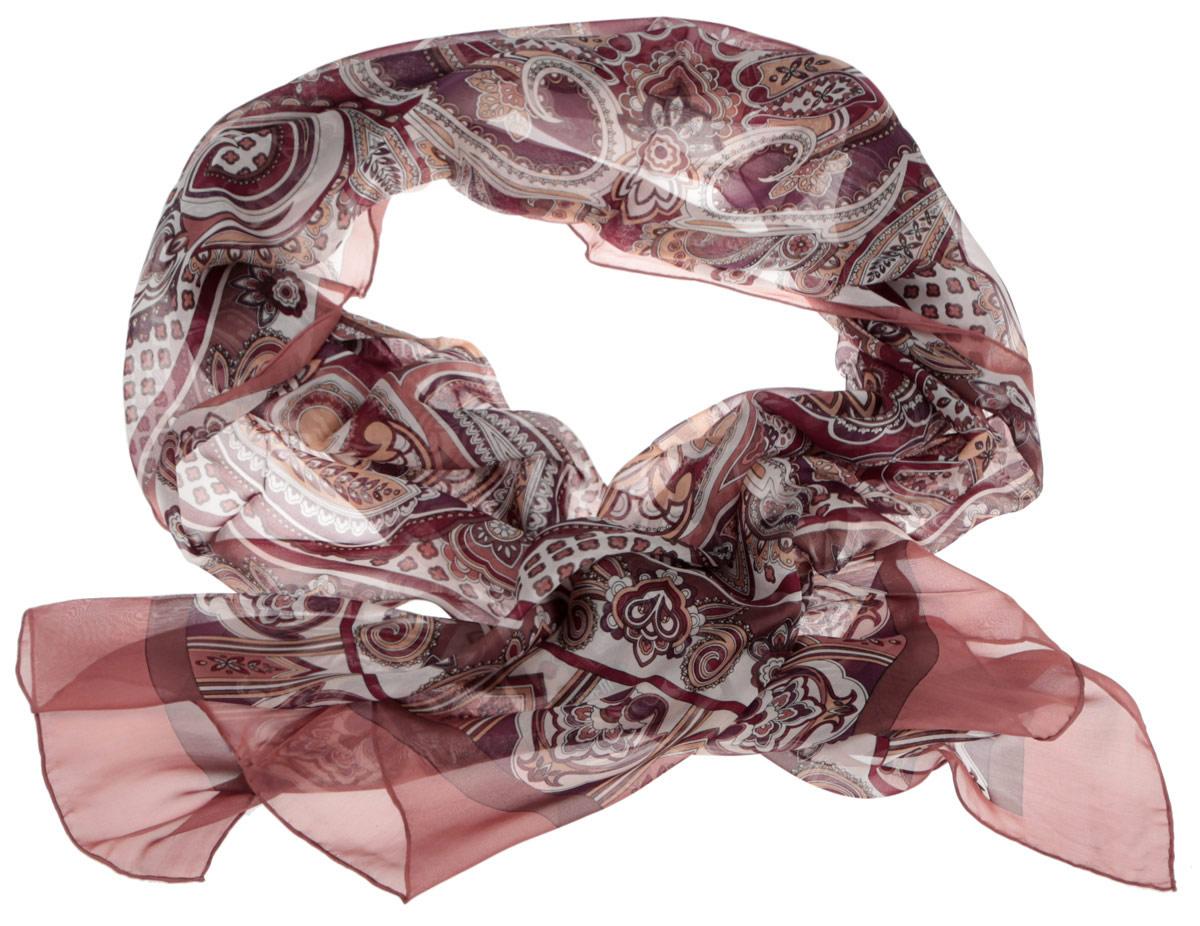 ШарфCX1516-45-1Модный женский шарф Fabretti подарит вам уют и станет стильным аксессуаром, который призван подчеркнуть вашу индивидуальность и женственность. Тонкий шарф выполнен из высококачественного шелка, он невероятно мягкий и приятный на ощупь. Шарф оформлен принтом с оригинальным этническим орнаментом. Этот модный аксессуар гармонично дополнит образ современной женщины, следящей за своим имиджем и стремящейся всегда оставаться стильной и элегантной. Такой шарф украсит любой наряд и согреет вас в непогоду, с ним вы всегда будете выглядеть изысканно и оригинально.