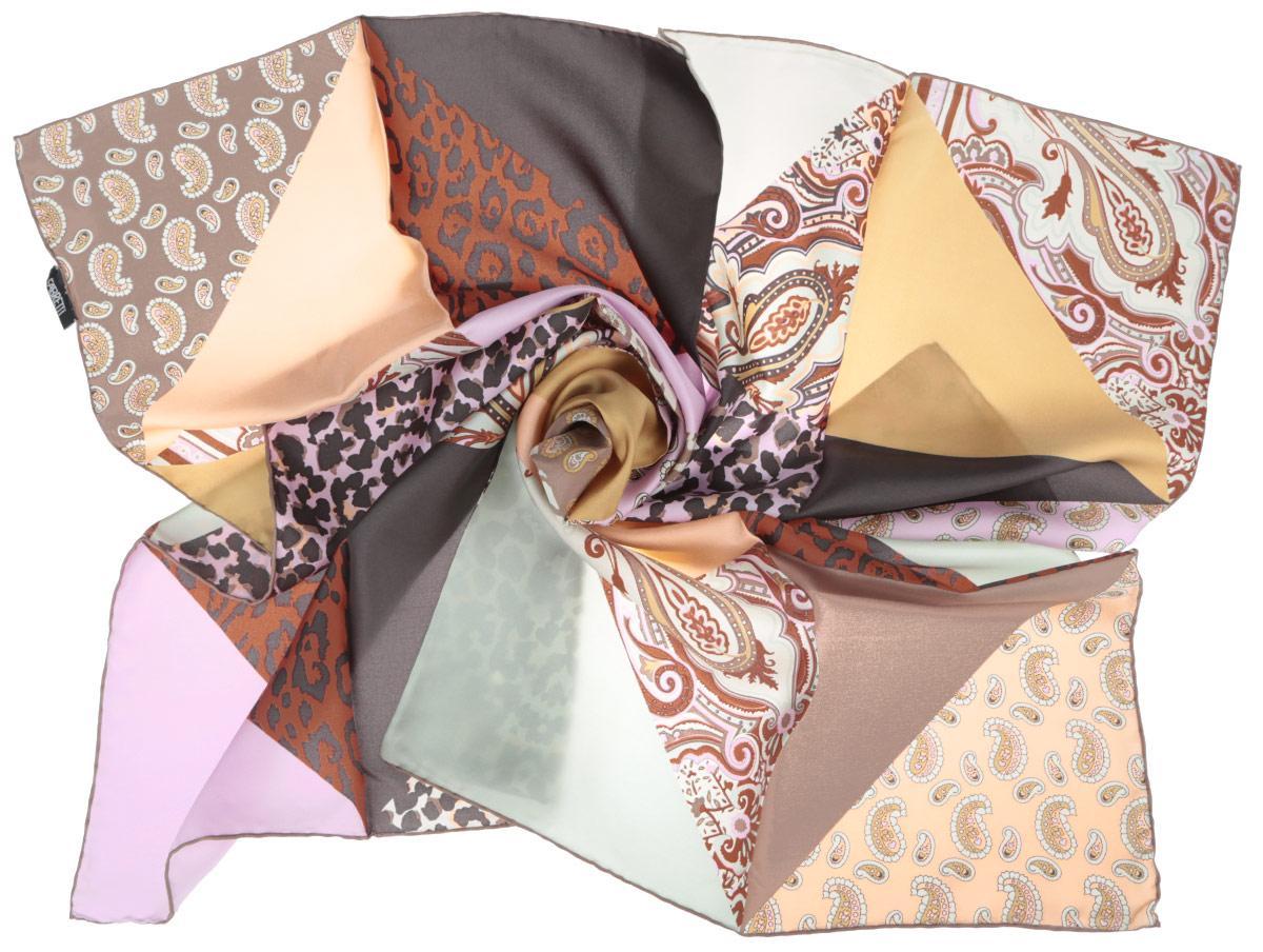 CX1516-68-12Стильный женский платок Fabretti станет великолепным завершением любого наряда. Платок изготовлен из высококачественного 100% шелка и оформлен оригинальным принтом с разнообразными орнаментами. Классическая квадратная форма позволяет носить платок на шее, украшать им прическу или декорировать сумочку. Мягкий и шелковистый платок поможет вам создать изысканный женственный образ, а также согреет в непогоду. Такой платок превосходно дополнит любой наряд и подчеркнет ваш неповторимый вкус и элегантность.