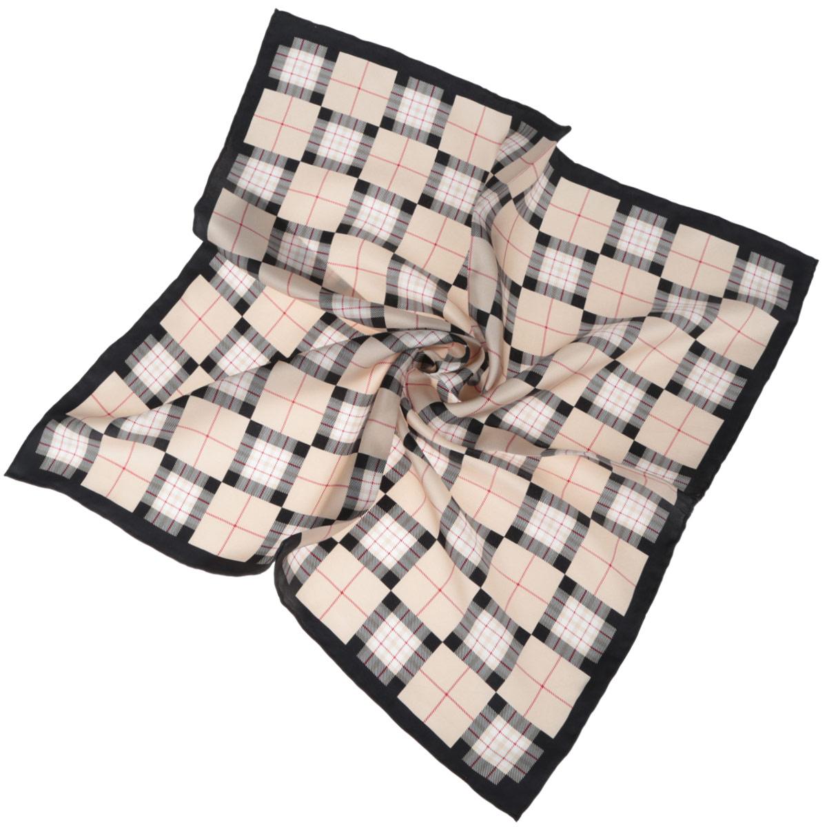 ПлатокCX1516-59-BСтильный женский платок Fabretti станет великолепным завершением любого наряда. Платок изготовлен из высококачественного 100% шелка и оформлен актуальным принтом в клетку. Классическая квадратная форма позволяет носить платок на шее, украшать им прическу или декорировать сумочку. Мягкий и шелковистый платок поможет вам создать изысканный женственный образ, а также согреет в непогоду. Такой платок превосходно дополнит любой наряд и подчеркнет ваш неповторимый вкус и элегантность.