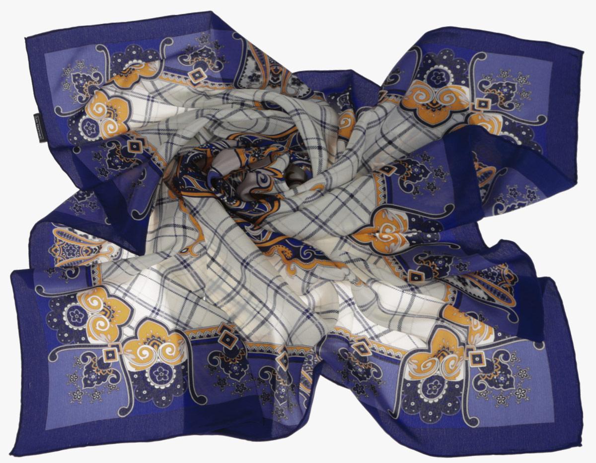 ПлатокCX1516-50-10Стильный женский платок Leo Ventoni станет великолепным завершением любого наряда. Платок изготовлен из высококачественного шелка и оформлен принтом в клетку, дополненным оригинальным орнаментом. Классическая квадратная форма позволяет носить платок на шее, украшать им прическу или декорировать сумочку. Мягкий и шелковистый платок поможет вам создать изысканный женственный образ, а также согреет в непогоду. Такой платок превосходно дополнит любой наряд и подчеркнет ваш неповторимый вкус и элегантность.
