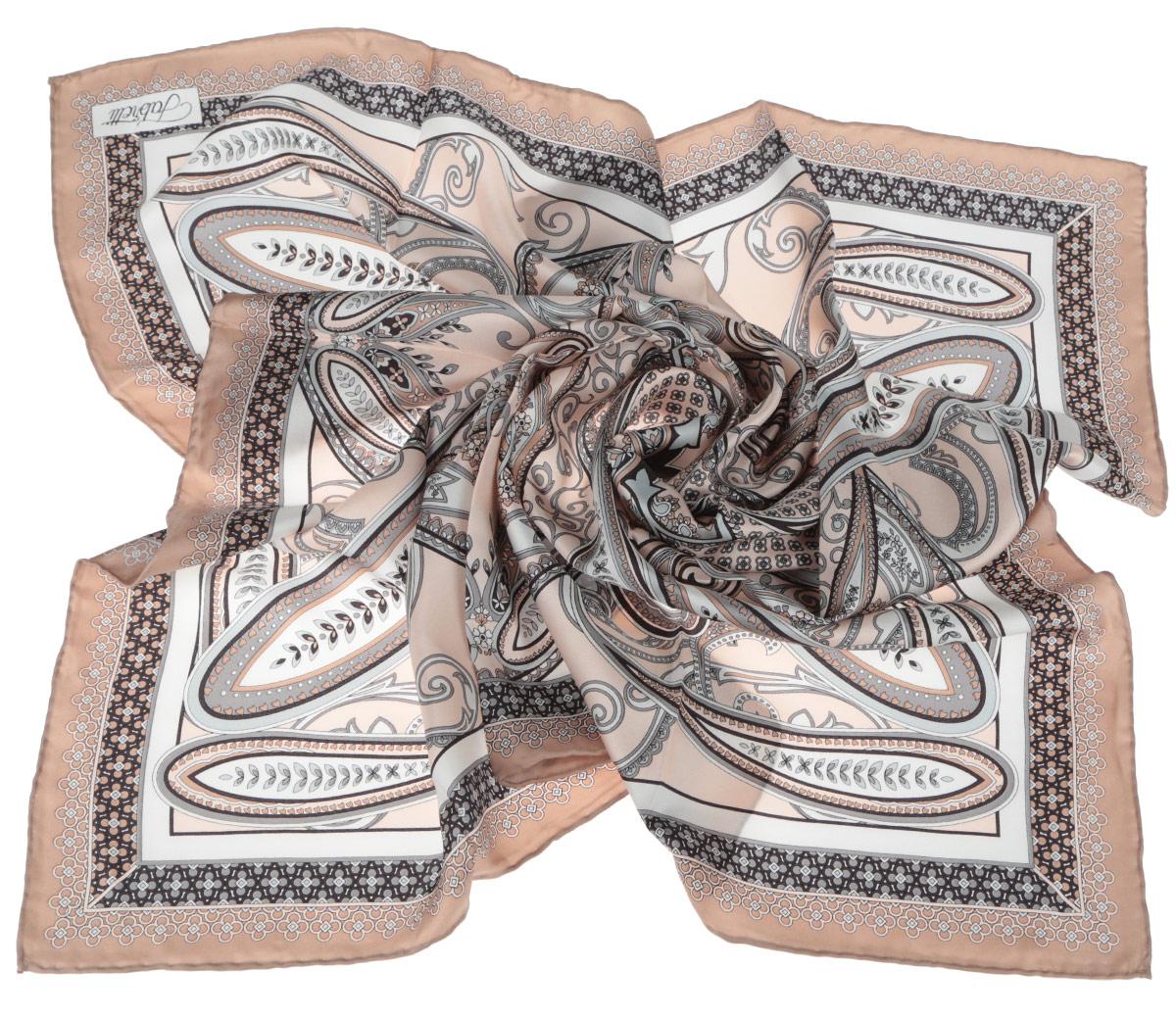 CX1516-52-5Стильный женский платок Fabretti станет великолепным завершением любого наряда. Платок изготовлен из высококачественного 100% шелка и оформлен изысканным этническим принтом в индийском стиле. Классическая квадратная форма позволяет носить платок на шее, украшать им прическу или декорировать сумочку. Мягкий и шелковистый платок поможет вам создать изысканный женственный образ, а также согреет в непогоду. Такой платок превосходно дополнит любой наряд и подчеркнет ваш неповторимый вкус и элегантность.
