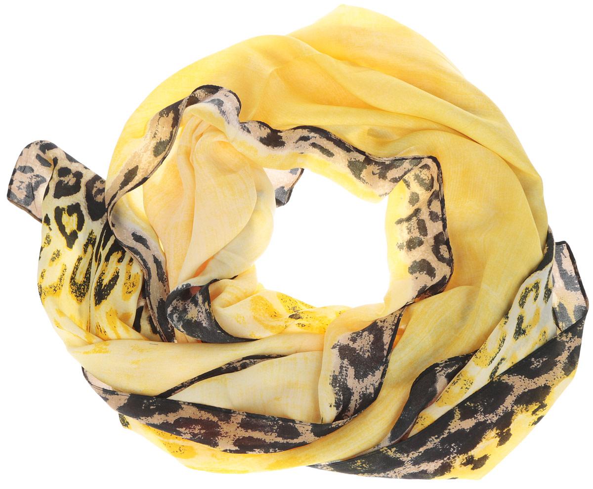 ШарфRDL1503-1Женский шарф Fabretti, выполненный из полиэстера с добавлением шелка, гармонично дополнит образ современной женщины. Благодаря своему составу, он мягкий и очень приятный на ощупь. Модель оформлена по краям леопардовым принтом. Современный дизайн и расцветка делают этот шарф модным и стильным женским аксессуаром. Он подарит вам ощущение комфорта и уюта.