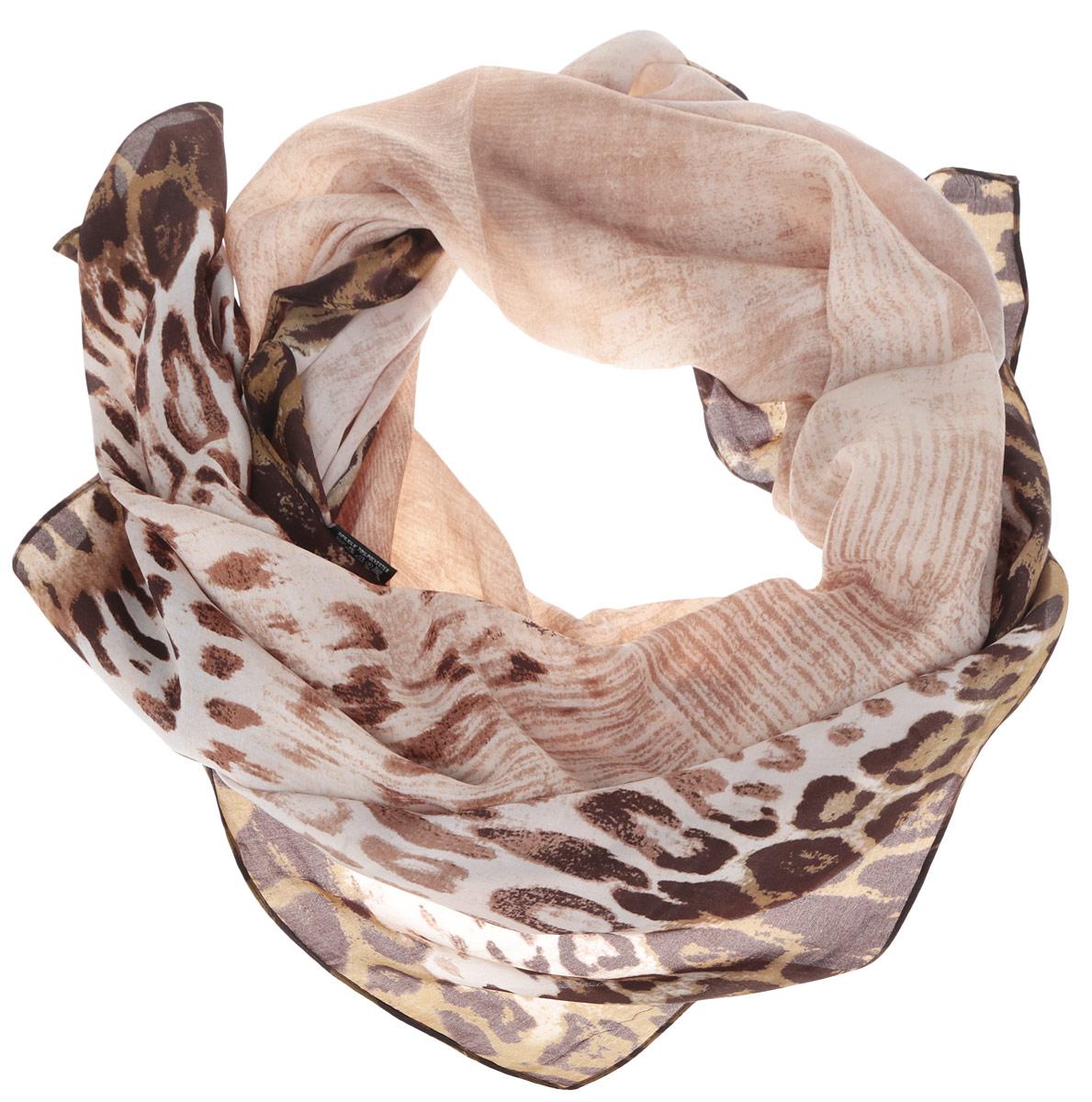 Шарф женский. RDL1503RDL1503-1Женский шарф Fabretti, выполненный из полиэстера с добавлением шелка, гармонично дополнит образ современной женщины. Благодаря своему составу, он мягкий и очень приятный на ощупь. Модель оформлена по краям леопардовым принтом. Современный дизайн и расцветка делают этот шарф модным и стильным женским аксессуаром. Он подарит вам ощущение комфорта и уюта.