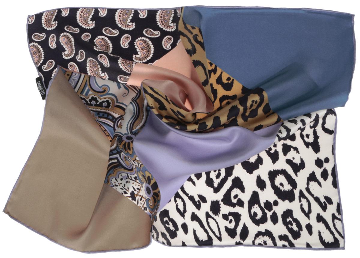ПлатокCX1516-62-8Стильный женский платок Fabretti станет великолепным завершением любого наряда. Платок изготовлен из высококачественного 100% шелка и оформлен оригинальным принтом с этническим орнаментом в восточном стиле. Классическая квадратная форма позволяет носить платок на шее, украшать им прическу или декорировать сумочку. Мягкий и шелковистый платок поможет вам создать изысканный женственный образ, а также согреет в непогоду. Такой платок превосходно дополнит любой наряд и подчеркнет ваш неповторимый вкус и элегантность.