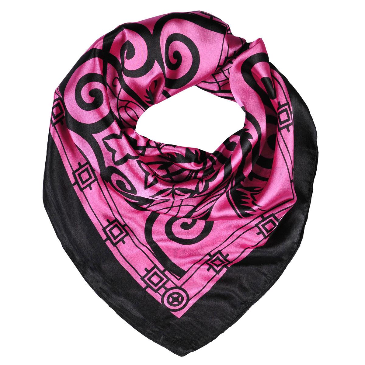 Шейный платок23/0427/115Легкий шейный платок с принтом Арабеска подчеркнет ваш стильный образ. Он выполнен из шелка и полиэстера. Легко и красиво драпируется. Этот модный аксессуар женского гардероба гармонично дополнит образ современной женщины, следящей за своим имиджем и стремящейся всегда оставаться стильной и элегантной.