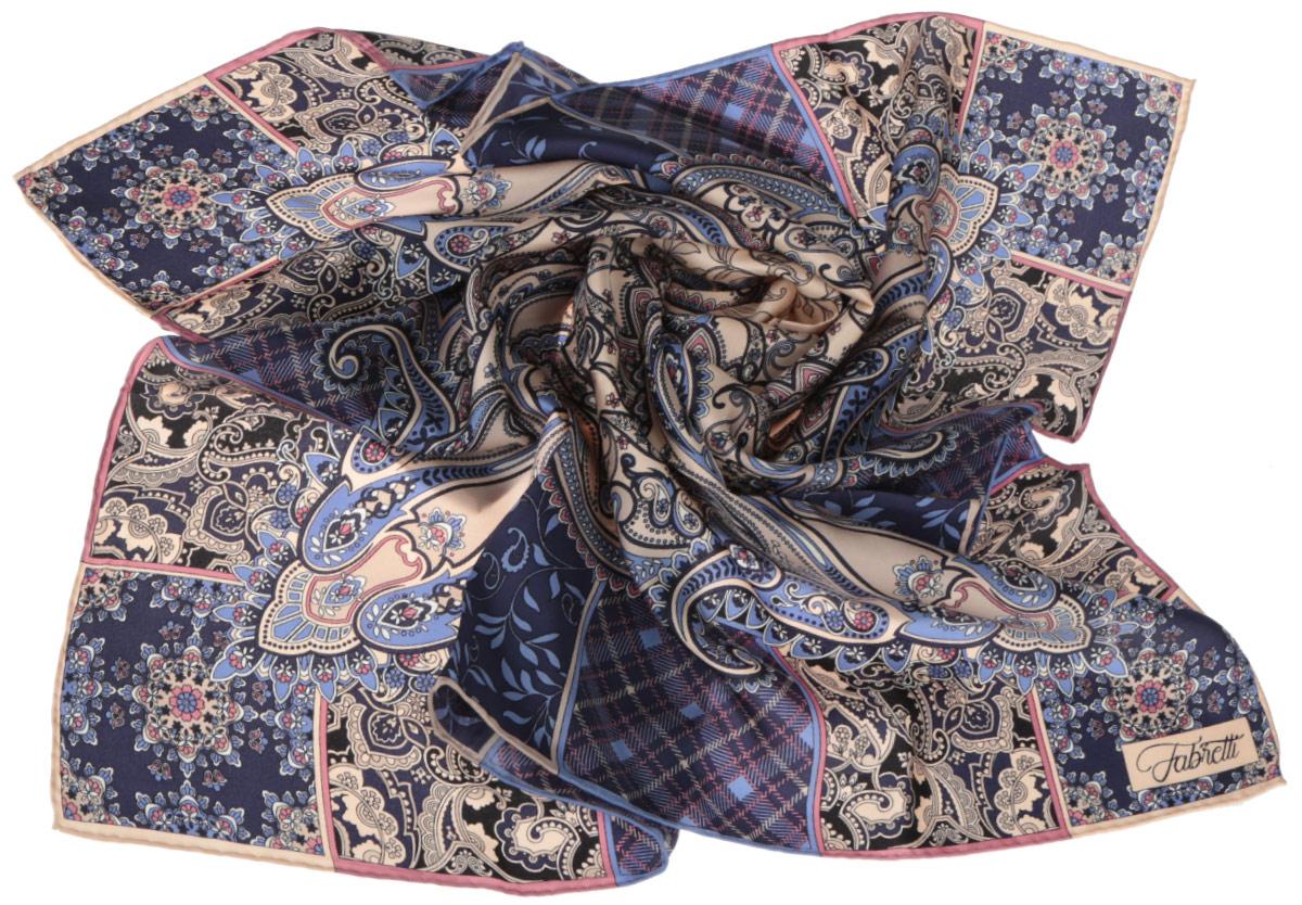 ПлатокCX1516-53-2Стильный женский платок Fabretti станет великолепным завершением любого наряда. Платок изготовлен из высококачественного 100% шелка и оформлен оригинальным принтом с красочным цветочным этническим орнаментом. Классическая квадратная форма позволяет носить платок на шее, украшать им прическу или декорировать сумочку. Мягкий и шелковистый платок поможет вам создать изысканный женственный образ, а также согреет в непогоду. Такой платок превосходно дополнит любой наряд и подчеркнет ваш неповторимый вкус и элегантность.