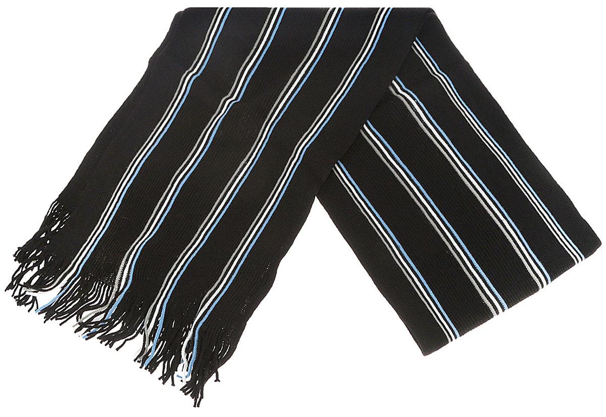 SPS-0680Мужской шарф Fabretti станет стильным дополнением к вашему гардеробу. Выполненный из вискозы, он очень мягкий, имеет приятную на ощупь текстуру, максимально сохраняет тепло. Изделие оформлено принтом в полоску, по краям дополнено тонкими кисточками, скрученными в жгутики. Модный аксессуар поможет создать безупречный стиль, а также подарит ощущение тепла и комфорта.