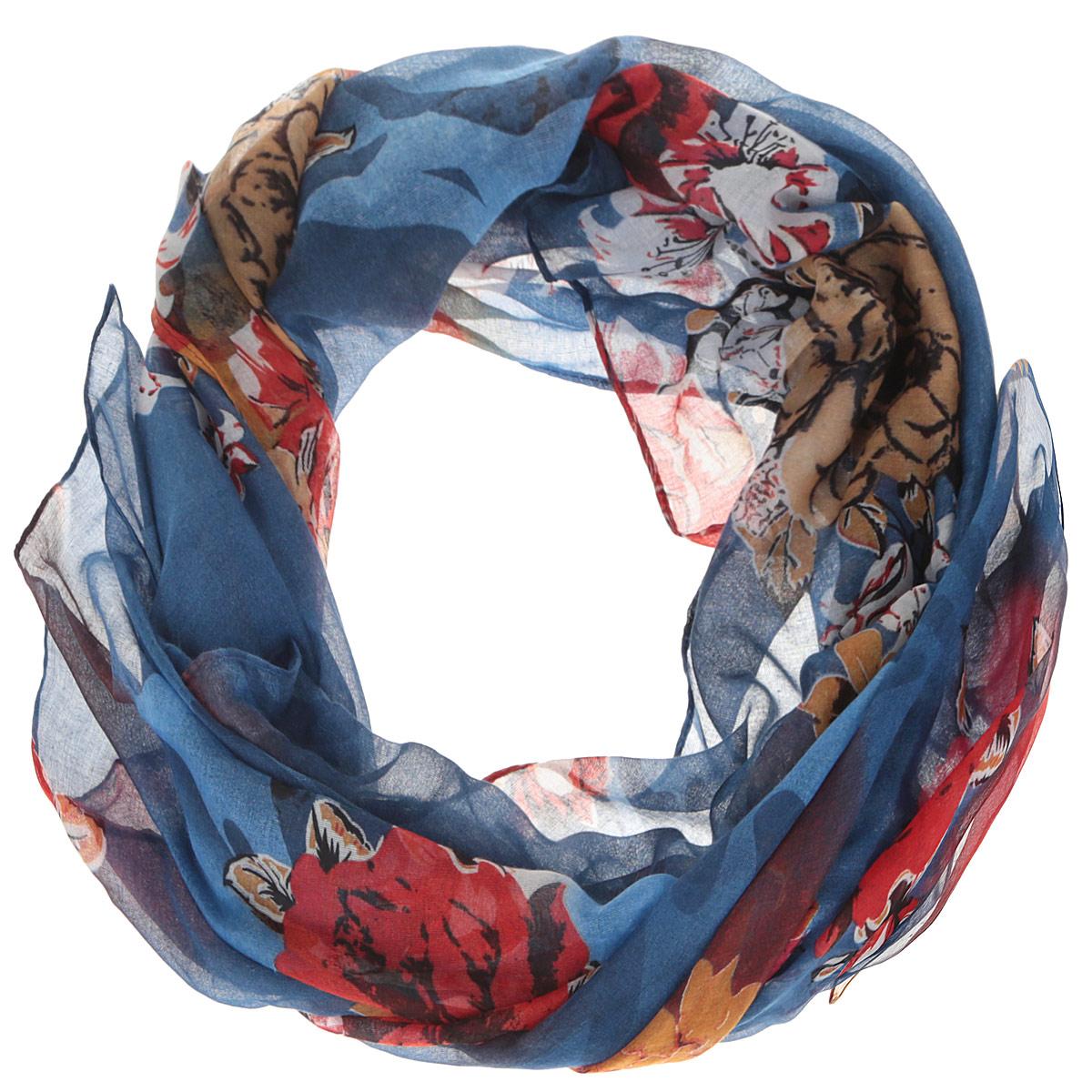 Шарф женский. JH599JH599-1Модный женский шарф Fabretti подарит вам уют и станет стильным аксессуаром, который призван подчеркнуть вашу индивидуальность и женственность. Тонкий шарф выполнен из высококачественной 100% вискозы, он невероятно мягкий и приятный на ощупь. Шарф оформлен принтом с изображением пышных цветов. Этот модный аксессуар гармонично дополнит образ современной женщины, следящей за своим имиджем и стремящейся всегда оставаться стильной и элегантной. Такой шарф украсит любой наряд и согреет вас в непогоду, с ним вы всегда будете выглядеть изысканно и оригинально.