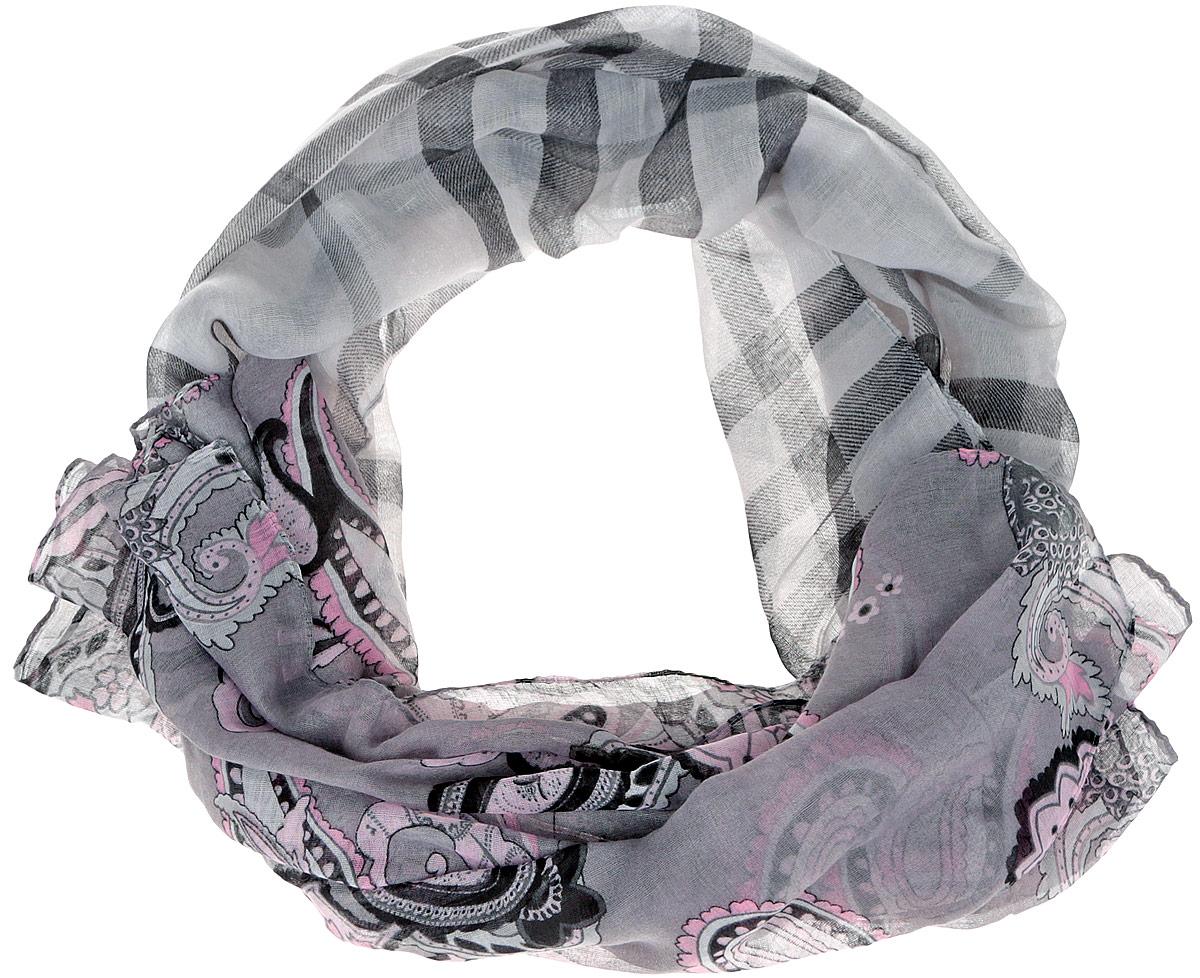 JH191-6Модный женский шарф Fabretti подарит вам уют и станет стильным аксессуаром, который призван подчеркнуть вашу индивидуальность и женственность. Тонкий шарф выполнен из высококачественной 100% вискозы, он невероятно мягкий и приятный на ощупь. Шарф оформлен принтом с изображением оригинальных этнических орнаментов. Этот модный аксессуар гармонично дополнит образ современной женщины, следящей за своим имиджем и стремящейся всегда оставаться стильной и элегантной. Такой шарф украсит любой наряд и согреет вас в непогоду, с ним вы всегда будете выглядеть изысканно и оригинально.