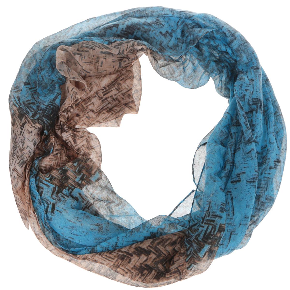 Шарф женский. TUT084TUT084-3Модный женский шарф Fabretti подарит вам уют и станет стильным аксессуаром, который призван подчеркнуть вашу индивидуальность и женственность. Тонкий шарф выполнен из высококачественной 100% вискозы, он невероятно мягкий и приятный на ощупь. Шарф оформлен принтом с изображением геометрического плетения. Этот модный аксессуар гармонично дополнит образ современной женщины, следящей за своим имиджем и стремящейся всегда оставаться стильной и элегантной. Такой шарф украсит любой наряд и согреет вас в непогоду, с ним вы всегда будете выглядеть изысканно и оригинально.