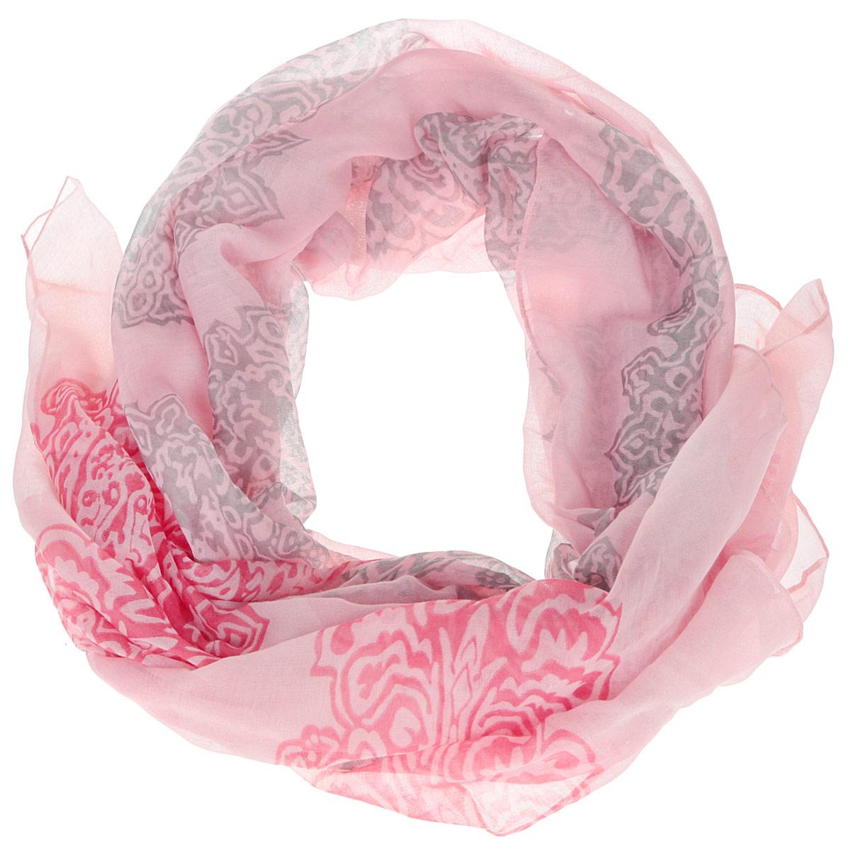 ШарфB16-11416Женский шарф Finn Flare станет изысканным аксессуаром, который подчеркнет вашу индивидуальность. Выполненный из вискозы, он очень мягкий и приятный на ощупь. Модель оформлена принтом с узорами. Такой шарф станет стильным дополнением к гардеробу современной женщины, а также подарит ощущение комфорта и уюта.