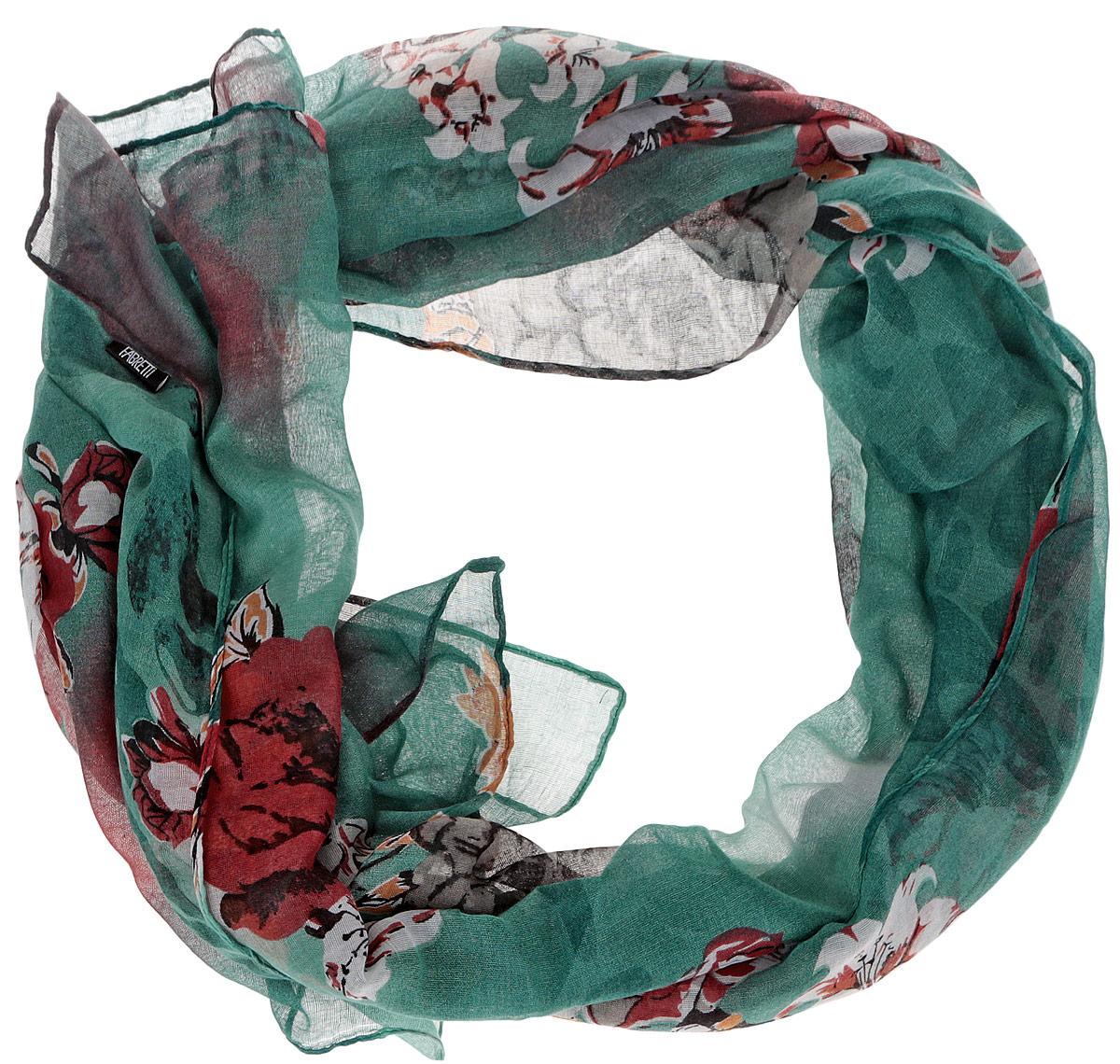 ШарфJH599-1Модный женский шарф Fabretti подарит вам уют и станет стильным аксессуаром, который призван подчеркнуть вашу индивидуальность и женственность. Тонкий шарф выполнен из высококачественной 100% вискозы, он невероятно мягкий и приятный на ощупь. Шарф оформлен принтом с изображением пышных цветов. Этот модный аксессуар гармонично дополнит образ современной женщины, следящей за своим имиджем и стремящейся всегда оставаться стильной и элегантной. Такой шарф украсит любой наряд и согреет вас в непогоду, с ним вы всегда будете выглядеть изысканно и оригинально.