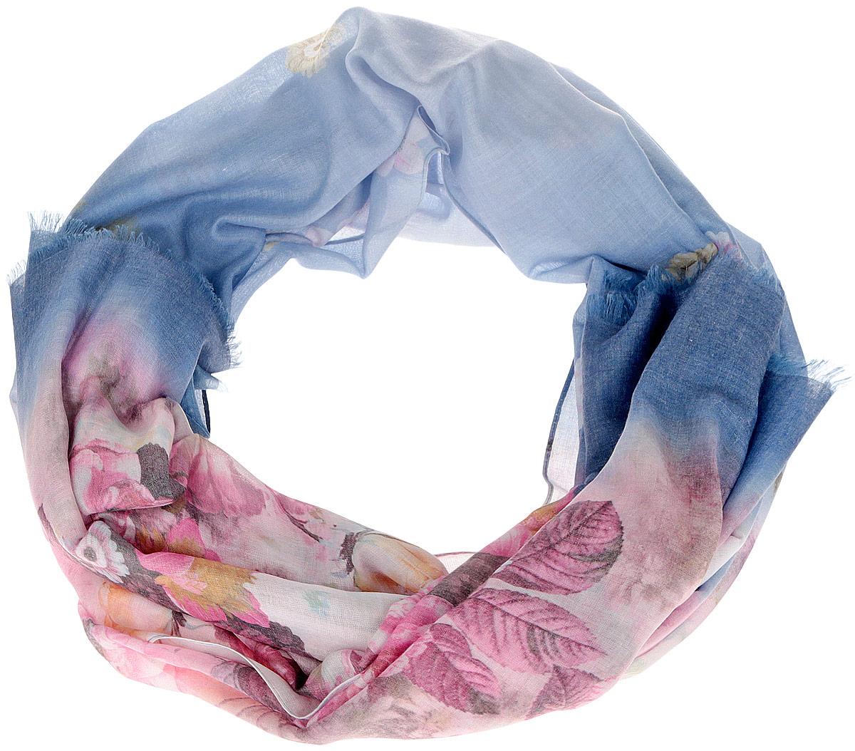 Шарф женский. F1537F1537-6Женский шарф Fabretti позволит вам создать неповторимый и запоминающийся образ. Благодаря своему составу, в который входят модал и вискоза, он легкий, мягкий и приятный на ощупь, хорошо пропускает воздух. Изделие оформлено цветочным принтом и украшено по краям бахромой. Такой аксессуар станет стильным дополнением к гардеробу современной женщины, а также подарит ощущение комфорта и уюта.