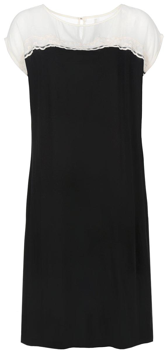 Платье. 4587045870Элегантное платье Relax Mode изготовлено из высококачественного материала. Такое платье обеспечит вам комфорт и удобство при носке. На спинке застегивается на пуговку. Модель свободного кроя с рукавами-кимоно и с круглым вырезом горловины дополнено узким поясом, двумя врезными карманами. Верхняя зона декорирована сеточкой и ажурной тканью. Это модное и удобное платье станет превосходным дополнением к вашему гардеробу, оно подарит вам удобство и поможет вам подчеркнуть свой вкус и неповторимый стиль.