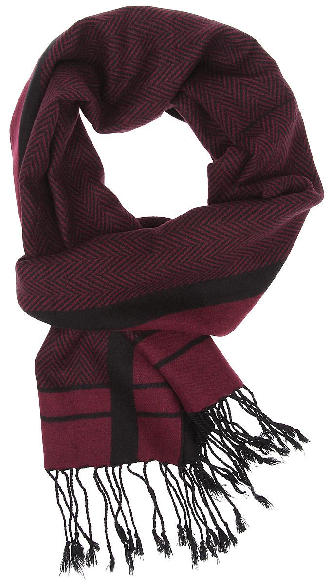 Шарф мужской. RM1512RM1512-3Мужской шарф Fabretti станет стильным аксессуаром, который призван подчеркнуть вашу индивидуальность. Выполненный из шелка и вискозы, он необычайно мягкий и приятный на ощупь, максимально сохраняет тепло. Изделие оформлено оригинальным принтом, по краям дополнено тонкими кисточками, скрученными в жгутики. Такой шарф отлично дополнит любой образ, а также подарит вам ощущение комфорта и уюта.