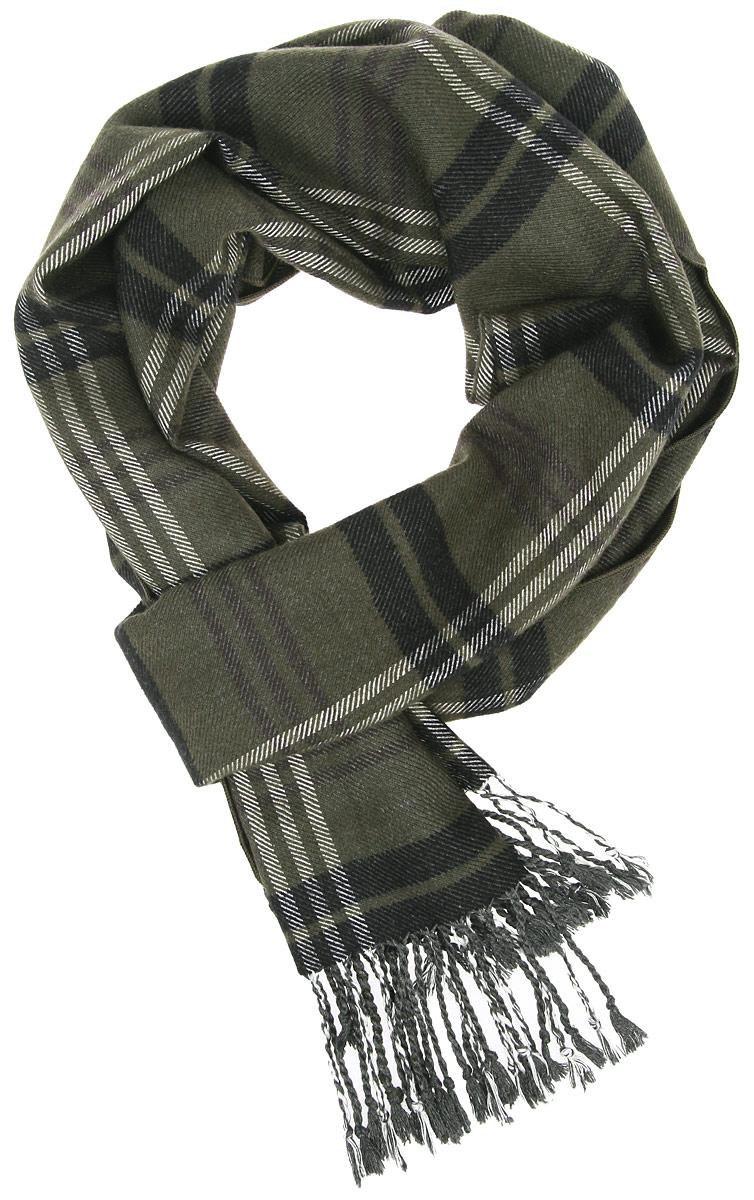 ШарфRM1508-1Мужской шарф Fabretti станет стильным аксессуаром, который призван подчеркнуть вашу индивидуальность. Выполненный из шелка и вискозы, он необычайно мягкий и приятный на ощупь, максимально сохраняет тепло. Изделие оформлено принтом с сочетанием клеток и полосок, по краям дополнено тонкими кисточками, скрученными в жгутики. Такой шарф отлично дополнит любой образ, а также подарит вам ощущение комфорта и уюта.