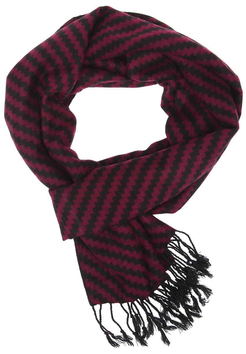 Шарф мужской. RM1514RM1514-4Мужской шарф Fabretti станет стильным аксессуаром, который призван подчеркнуть вашу индивидуальность. Выполненный из шелка и вискозы, он необычайно мягкий и приятный на ощупь, максимально сохраняет тепло. Изделие оформлено орнаментом по всей поверхности, по краям дополнено тонкими кисточками, скрученными в жгутики. Такой шарф отлично дополнит любой образ, а также подарит вам ощущение комфорта и уюта.