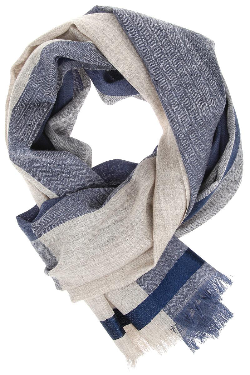 Шарф мужской. AM-1401AM-1401-Black/GreyМужской шарф Fabretti, выполненный из шерсти с добавлением шелка, отлично подойдет для повседневной носки. Материал шарфа очень легкий, мягкий и приятный на ощупь, максимально сохраняет тепло. Модель декорирована бахромой по краям. Современный дизайн и расцветка делают этот шарф модным и стильным мужским аксессуаром. Он подарит вам ощущение комфорта и уюта.