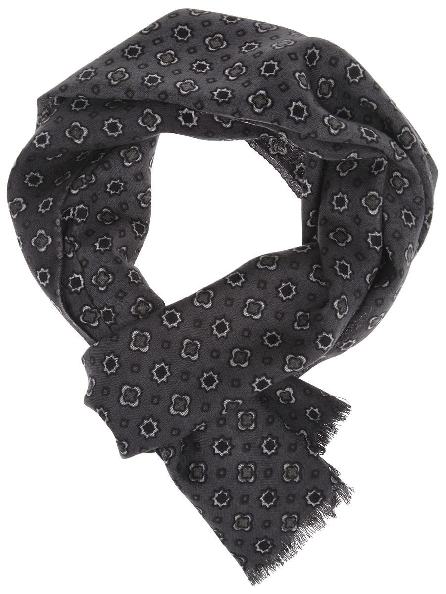 ШарфYNNT1121-2Мужской шарф Leo Ventoni станет стильным аксессуаром, который призван подчеркнуть вашу индивидуальность. Выполненный из шерсти, он тонкий, очень мягкий, имеет приятную на ощупь текстуру, максимально сохраняет тепло. Изделие оформлено принтом по всей поверхности, по краям украшено бахромой. Такой шарф отлично дополнит любой образ, а также подарит вам ощущение тепла и комфорта.