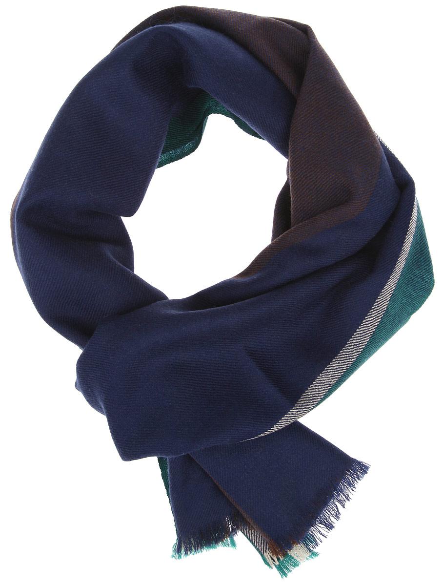 Шарф мужской. YQ27YQ27-1Элегантный мужской шарф Fabretti согреет вас в холодное время года, а также станет изысканным аксессуаром, который призван подчеркнуть ваш стиль и индивидуальность. Оригинальный шарф выполнен из натуральной шерсти, оформлен широкими контрастными полосками и украшен тонкой бахромой по краям. Такой шарф станет превосходным дополнением к любому наряду, защитит вас от ветра и холода и позволит вам создать свой неповторимый стиль.