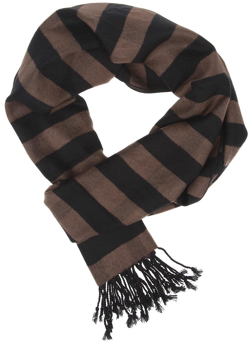 ШарфRM1507-1Элегантный мужской шарф Fabretti согреет вас в холодное время года, а также станет изысканным аксессуаром, который призван подчеркнуть ваш стиль и индивидуальность. Оригинальный шарф выполнен из шелка с добавлением вискозы, оформлен узкими полосками и украшен бахромой в виде жгутиков по краям. Такой шарф станет превосходным дополнением к любому наряду, защитит вас от ветра и холода и позволит вам создать свой неповторимый стиль.