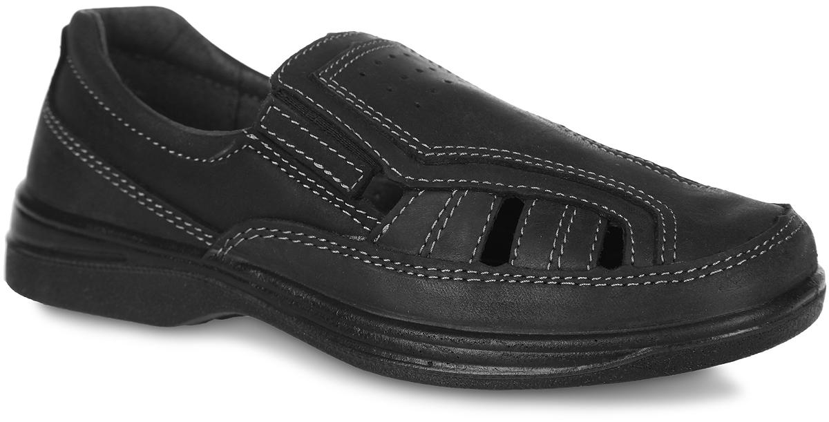 Туфли для мальчика. 732073-22732073-22Стильные туфли от Котофей покорят вашего мальчика с первого взгляда! Модель выполнена из натуральной кожи и оформлена перфорацией. Эластичные вставки по бокам обеспечивают идеальную посадку модели на ноге. Внутренняя часть и стелька из натуральной кожи комфортны при ходьбе. Рифленая поверхность подошвы обеспечивает сцепление с любыми поверхностями. Удобные туфли - незаменимая вещь в гардеробе каждого ребенка.