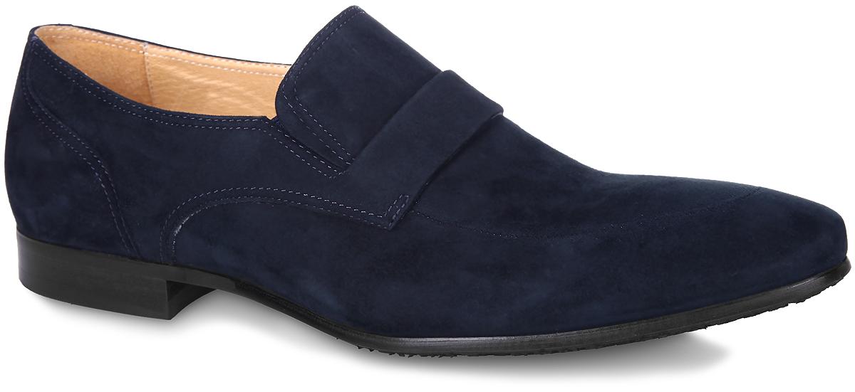 M21384Изысканные туфли Vitacci - незаменимая вещь в гардеробе каждого мужчины. Модель выполнена из натуральной высококачественной замши и оформлена на подъеме декоративным ремешком. Резинки, расположенные по бокам, гарантируют оптимальную посадку модели на ноге. Стелька из натуральной кожи комфортна при движении. Умеренной высоты каблук и подошва с рифлением обеспечивают отличное сцепление с поверхностью. Элегантные туфли станут прекрасным завершением вашего модного образа.