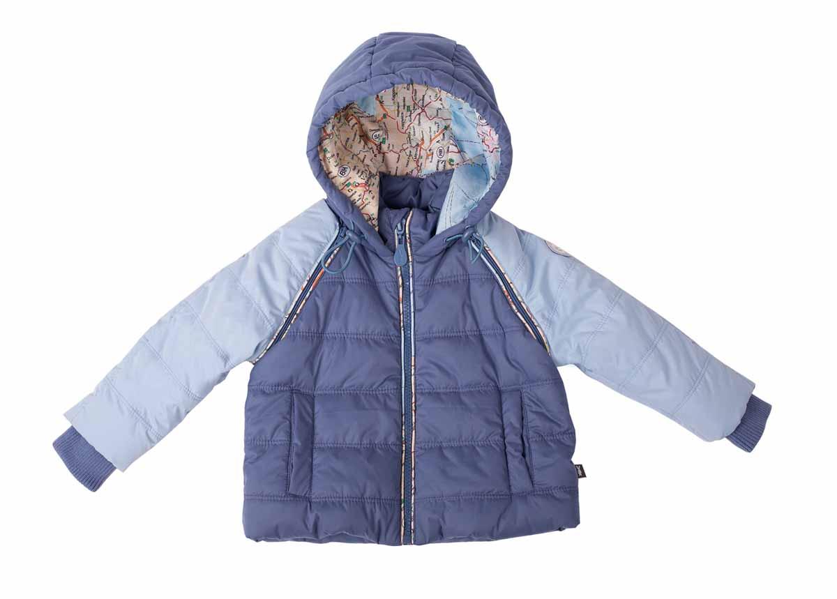 Куртка для мальчика Большое путешествие. 116GBBC4101116GBBC4101Куртка для мальчика Gulliver Baby Большое путешествие идеально подойдет для ребенка в прохладную погоду. Модель изготовлена из полиэстера на мягкой хлопковой подкладке. В качестве утеплителя используется синтепон, который отлично сохраняет тепло. Куртка с капюшоном, небольшим воротником-стойкой и рукавами-реглан застегивается на пластиковую застежку-молнию с защитой подбородка и дополнительно имеет внутренний ветрозащитный клапан. Несъемный капюшон по краю дополнен эластичным шнурком со стопперами. Подкладка капюшона оформлена принтом с изображением карты. Рукава пристегиваются к куртке при помощи застежек-молний. При необходимости их можно отстегнуть, что позволяет трансформировать куртку в жилет. На рукавах предусмотрены широкие трикотажные манжеты. Спереди расположены два втачных кармана на застежках-магнитах. По краю изделия проходит скрытая резинка со стопперами. Подкладка куртки украшена принтовой надписью. Теплая, удобная и практичная куртка...