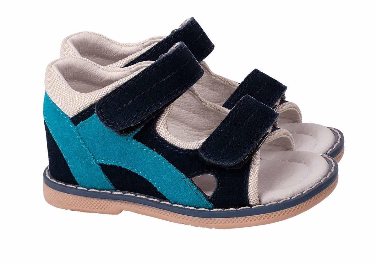 Сандалии116GBBS0401Стильные сандалии от Gulliver Baby придутся по душе вашему мальчику! Модель выполнена из натуральной замши со вставками из текстиля и оформлена крупной прострочкой вдоль ранта. Два ремешка на застежках-липучках отвечают за надежную фиксацию изделия на ноге. Подкладка и стелька из натуральной кожи позволяют ножкам дышать. Супинатор на стельке предотвращает развитие плоскостопия. Специальные перекаты на подошве способствуют правильной установке стопы при ходьбе. Удобные и модные сандалии - необходимая вещь в гардеробе каждого ребенка.