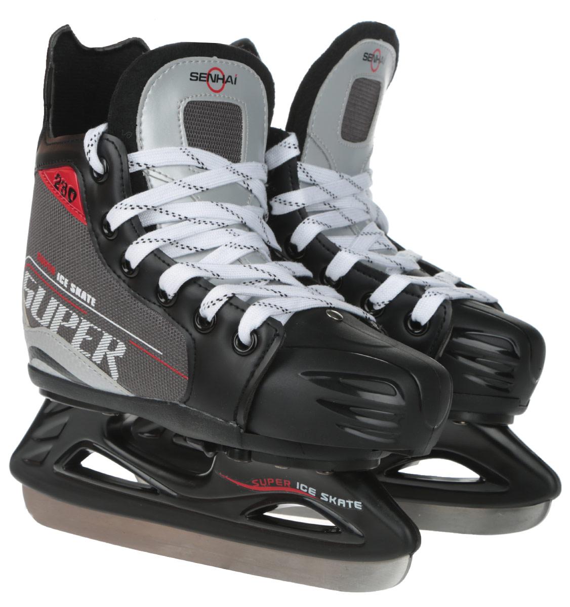 Senhai Коньки хоккейные для мальчика Super, раздвижные. 0054927