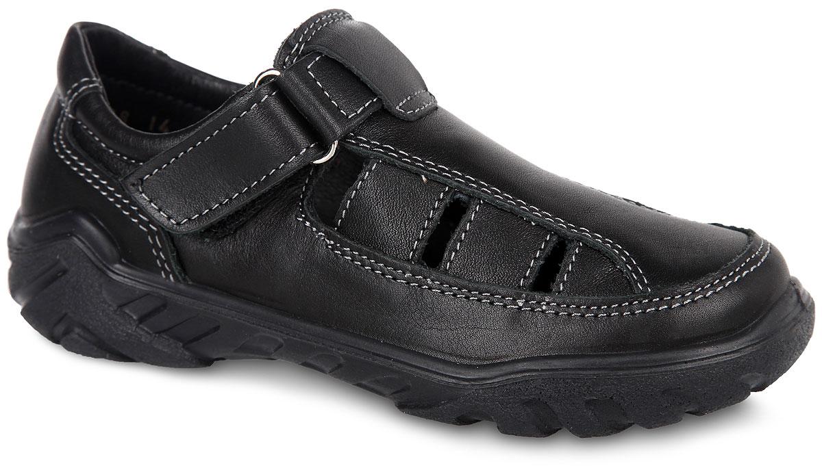 Туфли для мальчика. 532077-21532077-21Стильные туфли от Котофей покорят вашего мальчика с первого взгляда! Модель выполнена из натуральной кожи. Ремешок на застежке-липучке надежно зафиксирует модель на ноге. Внутренняя часть и стелька из натуральной кожи комфортны при ходьбе. Технология подошвы Anti-shock обеспечивает поглощение ударов в области пятки, предохраняя ступню от разного рода травм и деформаций. Рифленая поверхность подошвы гарантирует сцепление с любыми поверхностями. Удобные туфли - незаменимая вещь в гардеробе каждого мальчика.