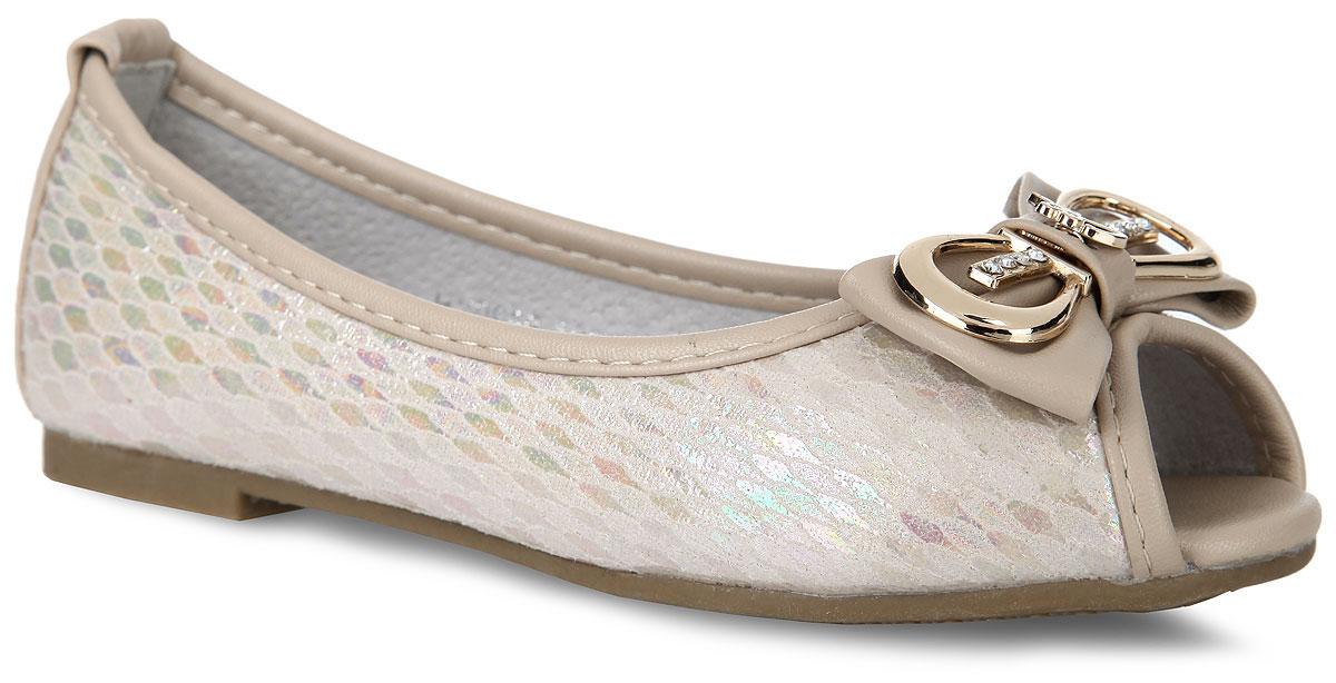 HY0969-100Стильные и удобные балетки от Adagio придутся по душе вашей девочке! Модель изготовлена из искусственной кожи с покрытием. Мысок изделия дополнен декоративным бантиком с металлическим элементом, украшенным стразами. Модель имеет открытый носок. Внутренняя поверхность и стелька из натуральной кожи комфортны при ходьбе. Рифленая поверхность подошвы обеспечивает отличное сцепление с любыми поверхностями. Удобные балетки - незаменимая вещь в гардеробе каждой девочки.