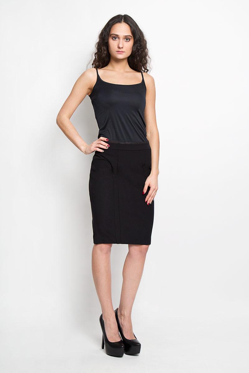 Юбка. B475003B475003Эффектная юбка Baon выполнена из высококачественного плотного эластичного полиамида, она обеспечит вам комфорт и удобство при носке. Элегантная юбка-карандаш застегивается на скрытую застежку-молнию на спинке. Модная юбка выгодно освежит и разнообразит ваш гардероб. Создайте женственный образ и подчеркните свою яркую индивидуальность! Классический фасон и оригинальное оформление этой юбки сделают ваш образ непревзойденным.