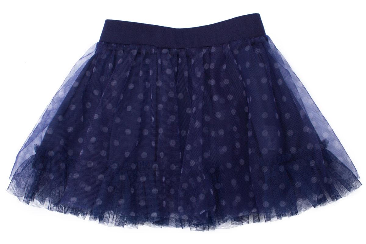 Юбка для девочки. 162107162107Пышная юбка для девочки PlayToday станет отличным дополнением к гардеробу маленькой модницы. Изготовленная из полиэстера на подкладке из натурального хлопка, она мягкая и приятная на ощупь, не сковывает движения и хорошо пропускает воздух. Благодаря широкой эластичной резинке на поясе, юбка не сползает и не сдавливает животик ребенка. От линии талии заложены складочки, придающие изделию воздушность. Верх юбки выполнен из мягкой микросетки. На подкладке предусмотрена оборки из микросетки. Украшено изделие принтом в горох. В такой юбочке ваша маленькая принцесса всегда будет в центре внимания!